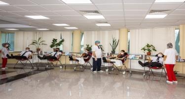 Azərbaycan aviatorları yenidən donor qanvermə aksiyasında iştirak edirlər (FOTO)